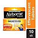 Airborne Zesty Orange Effervescent Tablets, 10 count - 1000mg of Vitamin C - Immune Support Supplement