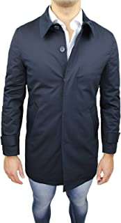 Mat Sartoriale Giaccone Soprabito Uomo Blu Scuro Invernale Casual Elegante Giacca Cappotto Taglia S M L XL XXL 3XL