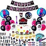 Herefun 115pcs Artículos de Fiestas para Fanáticos de Juegos, Decoración de la Fiesta de Videojuegos para Fanáticos de los Videojuegos, Cumpleaños Fiesta de Videojuegos para Chico (A)