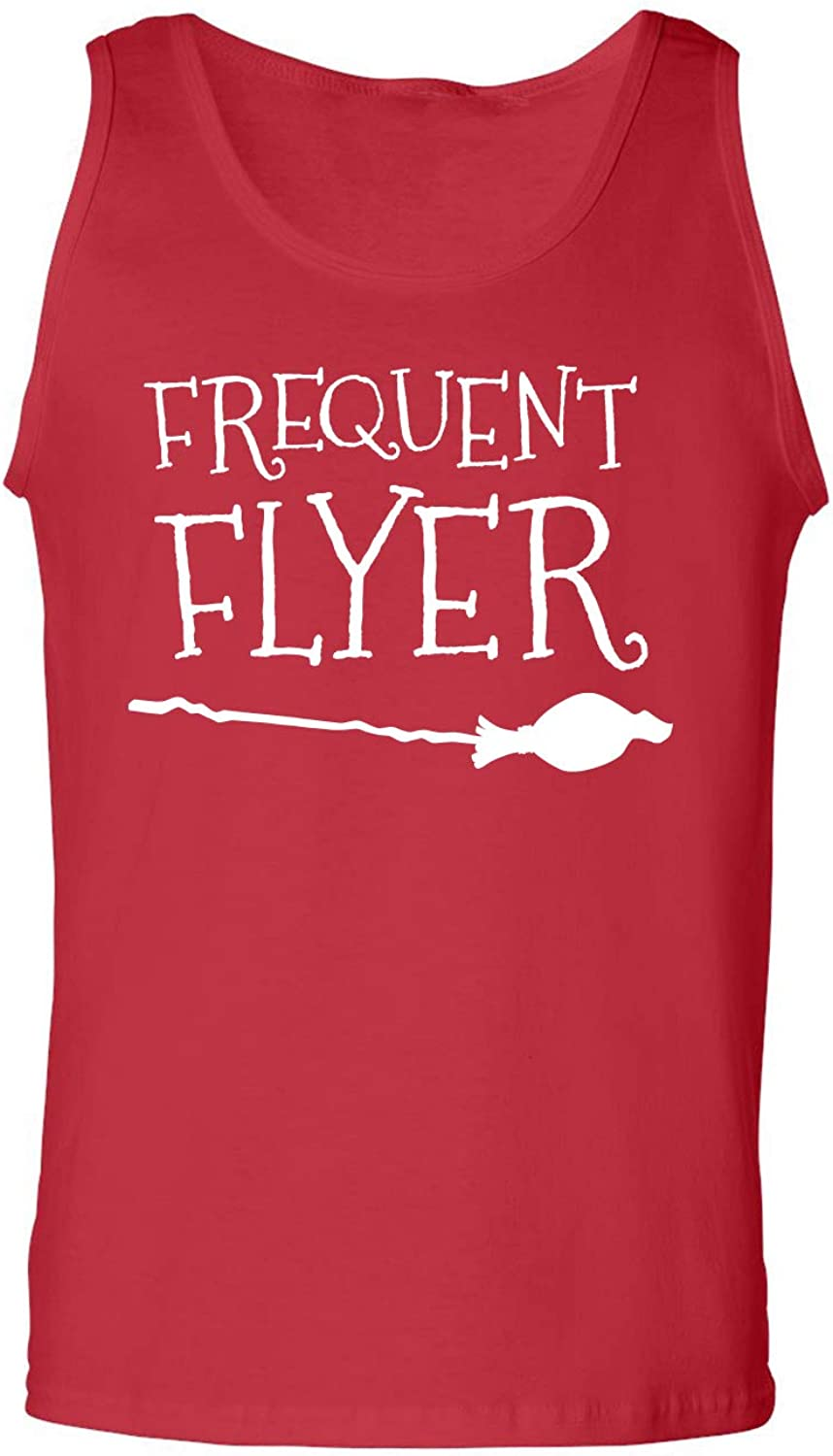 Frequent Flyer Adult Tank Top in Red - XX-Large