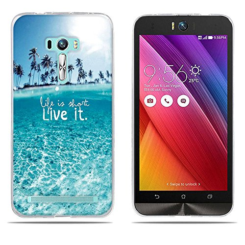 DIKAS für Asus ZenFone Selfie ZD551KL Hülle, Transparent Ultra Slim Tasche Etui Weich Flexibel Crystal Clear Premium TPU Silikon Bumper Schutzhülle für Asus ZenFone Selfie ZD551KL- Pic: 05