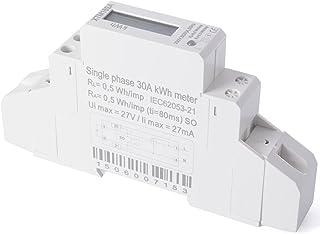 XCSOURCE® Medidor Energía KWH Kilovatio Hora LCD CA 50Hz Fase Simple Riel DIN 230V BI042