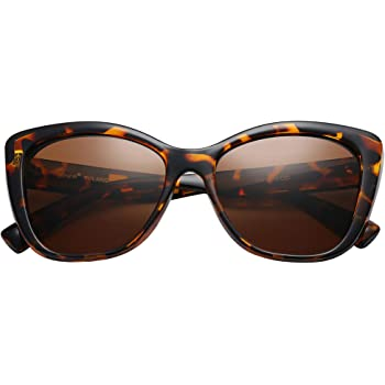 Unisex Tortoise Sunglasses Retro Mirrored Round Fashion Cat Eye Driving Eyewear