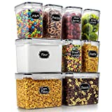 Wildone Food Storage Containers Set of 9 - Airtight Cereal & Dry Food Storage Containers for for...