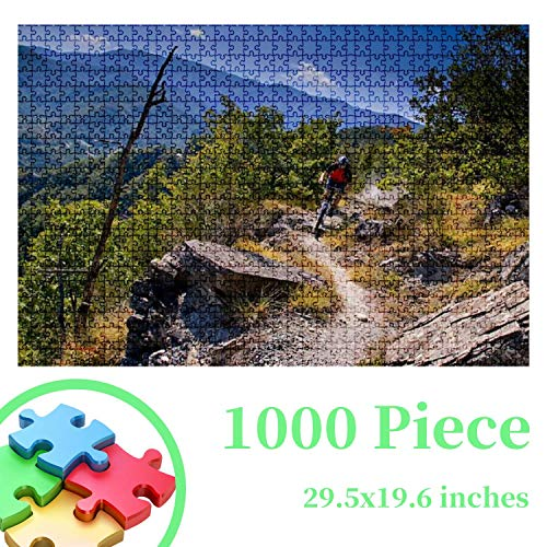 Jigsaw Puzzles - Mountain Bike Excursion in The Casentino National Park Tuscany 1000 PCS for Adults Kids Challenging Decompressing Wooden Puzzles Educational Game Leisure Time Gift Home Decor