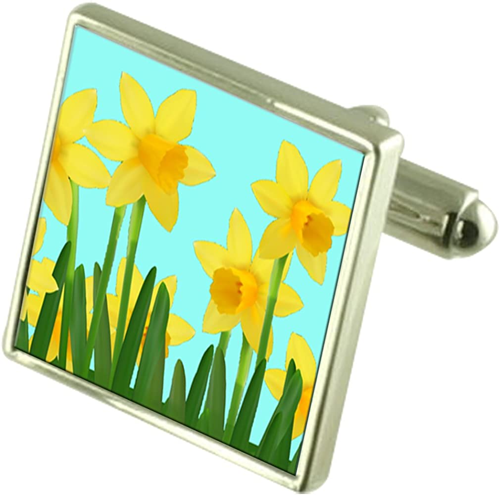 Select Gifts Spring Florist depot Flower Silver Daffodils Sterling Cuf New product! New type
