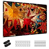 Projector Screen 100 inch, Taotique 4K Movie Projector Screen 16:9 HD Foldable and Portable...