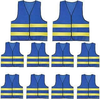 AIEOE Mens 10 Pack High Visibility Reflective Vest Hi-vis Bright Color Construction Safety Vest
