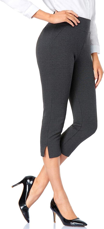 Tapata Women's 20.5'' Straight Leg Capri Dress Pants Cropped Office Pants Casual Career Pants