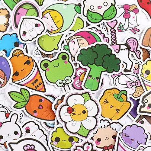 QEWRT 50pcs Creative Cute Self-made Cute Cartoon Sticker Scrapbooking Stickers Decorative Sticker Craft Po Albums