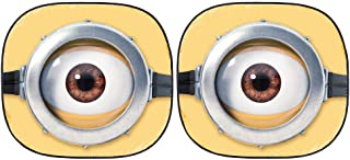 Plasticolor Universal Minions Eyes Auto Vehicle Spring Sunshade 28.5X31.5 for Front Windshield (003805R01)