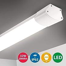20W LED Deckenleuchte R/öhre Licht 60CM mit 2400LM in Warmwei/ß 3200K 130/° Abstrahlwinkel f/ür Badzimmer Wohnzimmer K/üche Garage Lager Werkstatt von pingouGo