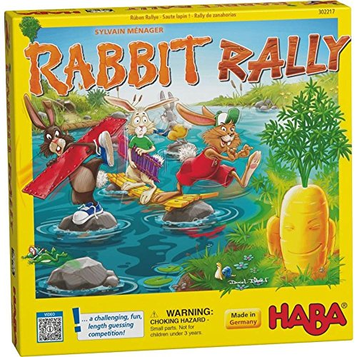 Image of HABA Rabbit Rally - A Challenging and Fun Guessing Game for Ages 4 and Up (Made in Germany)