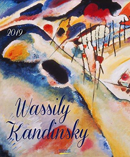 Wassily Kandinsky 202819 2019: Kunstkalender mit Werken des Künstlers Wassily Kandinsky. Großer Wandkalender mit abstrakten Bildern aus dem Expressionismus. Format: 45,5 x 55 cm, Foliendeckblatt