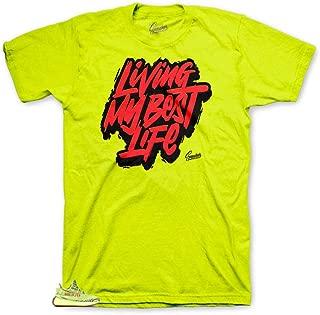 Shirt Match Yeezy Frozen Yellow - Living Life Sneaker Tee