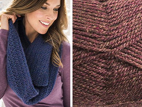 Craftsy Sprightly Easy Worsted Crochet Scarf or Cowl: Yarn and Printed Pattern (Copper)