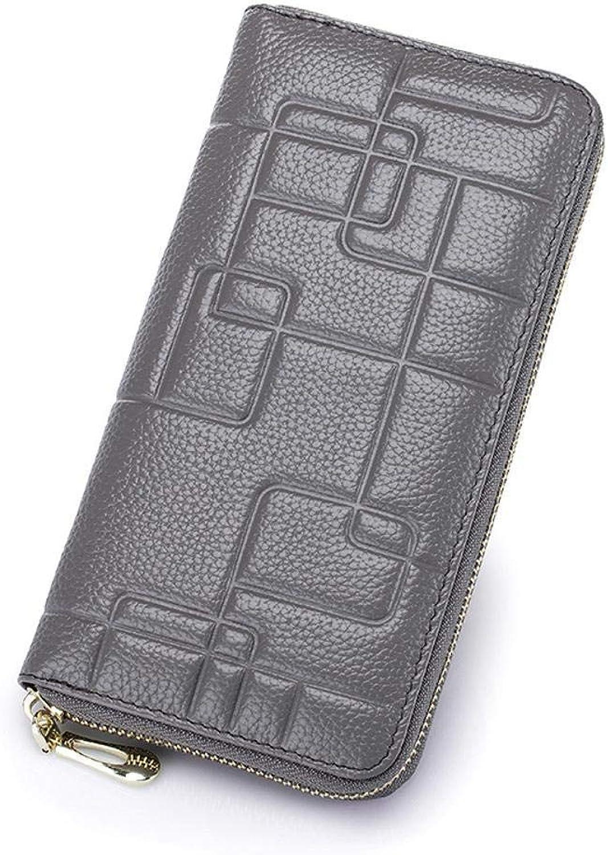 Girls Purse Women's Wallet Women's Leather Pressure Money Bag (color   B)