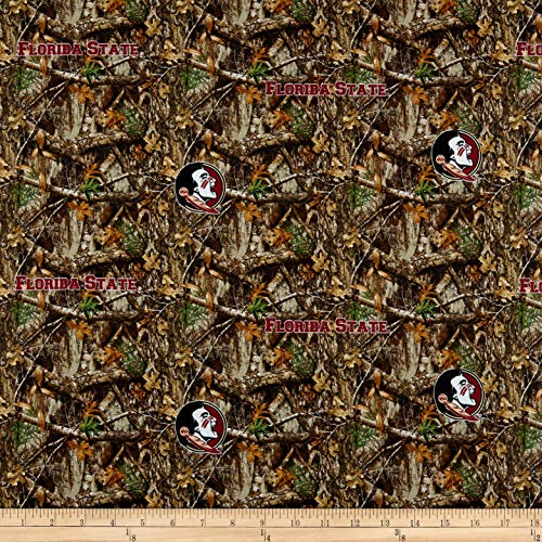 Sykel Enterprises NCAA Florida State Collegiate Realtree TEAM COLOR, Fabric by the Yard