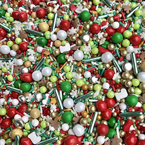 Manvscakes | Sprinkles | Christmas sprinkles | Cake sprinkles | Cookie sprinkles | 4 ounce (Christmas baking)