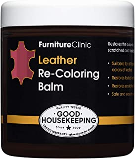 Furniture Clinic Leather Recoloring Balm - Renew, Restore & Repair Color to Faded and Scratched Leather   21 Color Choice...