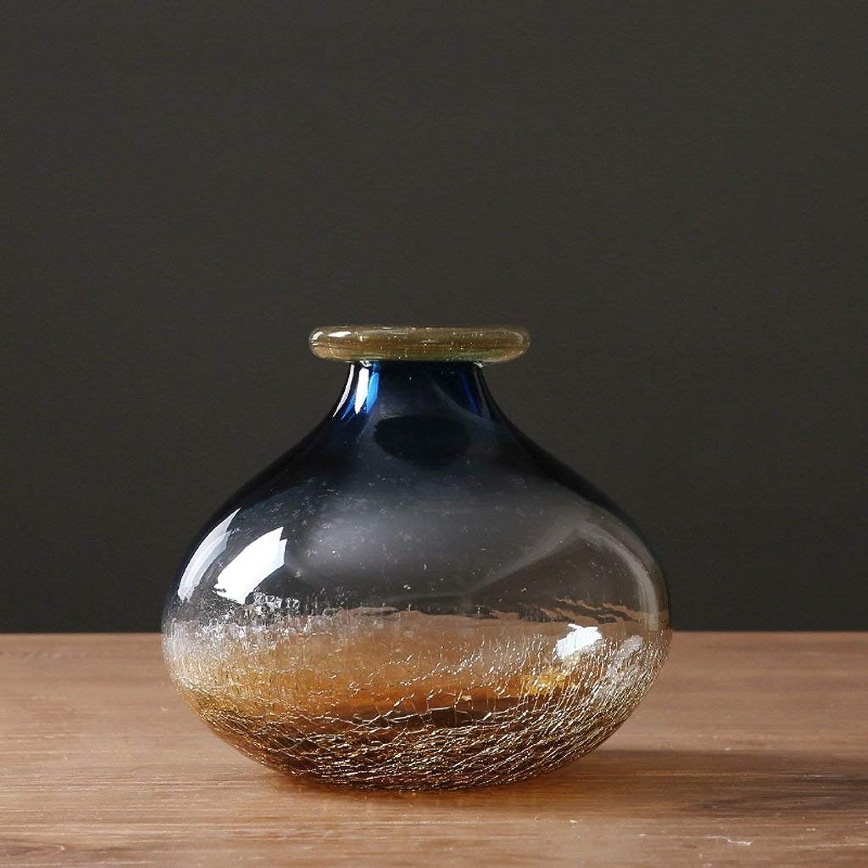 GCM Ceramic Nordic Mini Vase en Verre à Bulles Ensemble Transparent Couleur Fleur Comptoir Décoration Salon Maison ArrangeHommest De La Fleur (Couleur   B)