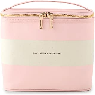 Women's Lunch Tote, (Out To Lunch), Blush Rugby Stripe, Pink Canvas