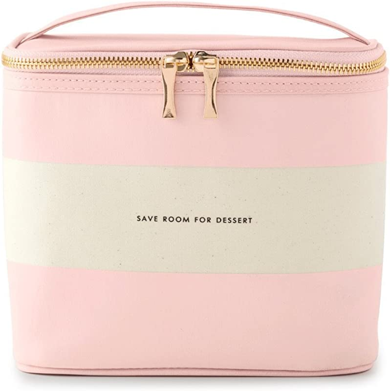 Kate Spade New York Women S Lunch Tote Out To Lunch Blush Rugby Stripe Pink Canvas