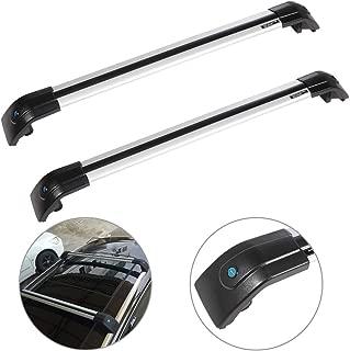 SCITOO fit for 2012-2014 Buick Enclave,2007-2017 Ford Edge,2016 Honda Pilot Aluminum Alloy Roof Top Cross Bar Set Rock Rack Rail