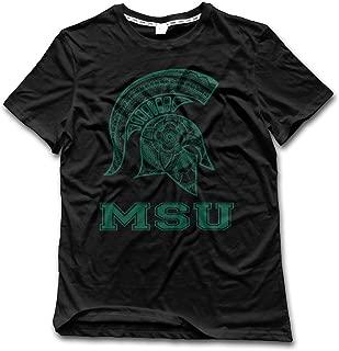 NUBIA Men's Michigan State MSU Classic T-shirt Black