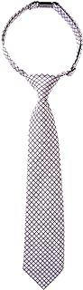Retreez Check Textured Woven Microfiber Pre-tied Boy's Tie - Various Colors