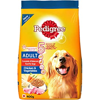 Pedigree Adult Dry Dog Food- Chicken & Vegetables, 400g Pack