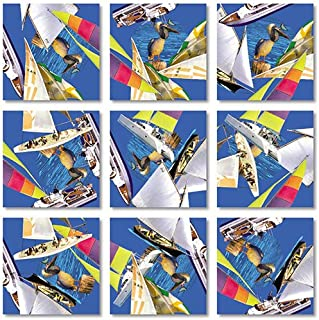 B.Dazzle Scramble Squares Boats 9 Piece Challenging Puzzle - Ultimate Brain Teaser and Mind Game for Young and Senior Alike - Engaging and Creative With Beautiful Artwork