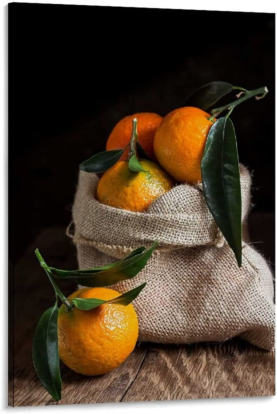 Orange Translated Still Life Photography Poster Under blast sales Art Mural and Canvas