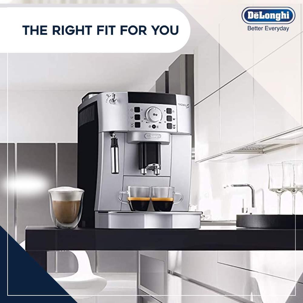 Delonghi Magnifica S Ecam 22.110.SB - Cafetera superautomática, 15 bares de presión, 13 programas ajustables, limpieza automática, sistema cappuccino, color plata: Amazon.es: Hogar
