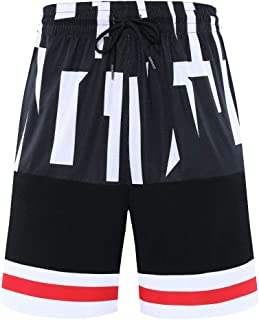 Auyz Mens Breathable Basketball Shorts Athletic Gym Running Training Workout Shorts with Pockets Drawstrings