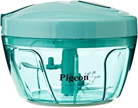 Pigeon by Stoverkraft Handy Mini Plastic Chopper with 3 Blades, Green