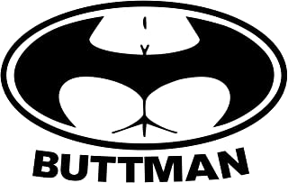 Sunset Graphics & Decals Buttman Decal Sticker Car Vinyl Funny | Cars Trucks Vans Walls Laptop Computer | Black | 6 inches...