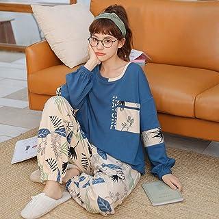 Pijama Mujer PrimaveraPrimavera Otoño Pijamas De Algodón para Mujer Camisón Suelto De Gran Tamaño Dulce Hogar Ropa Pijama De Manga Larga Ropa De Dormir Femenina