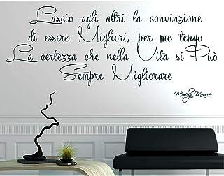 Adesivi Murali Frasi Wall Stickers Frase Adesivo Murale Citazione Marilyn Monroe Decorazione interni Lascio agli altri la ...