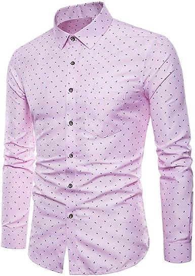 Camisas Casual Hombre Manga Larga, Covermason Blusa Formal de ...