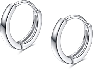 Sterling Silver Cartilage Hoop Hypoallergenic Tiny Small Earrings for Women Teen Girls 13mm