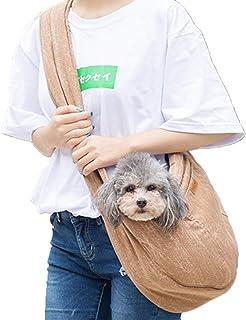XUHUIXZI Worth Having Reversible Outdoor Pet Dog Cat Puppy Sling Shoulder Carrier Bag - Adjustable Strap Hands Free Pet Pu...