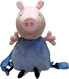 CYP- Mochila Peluche 3D George Hermano Peppa Pig 28X18X18 Cm, Multicolor (MC-103-PG)