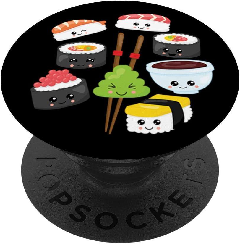 Kawaii So Cute Japanese Sushi 35% OFF Over item handling Funny Food Anime PopG 6 PopSockets