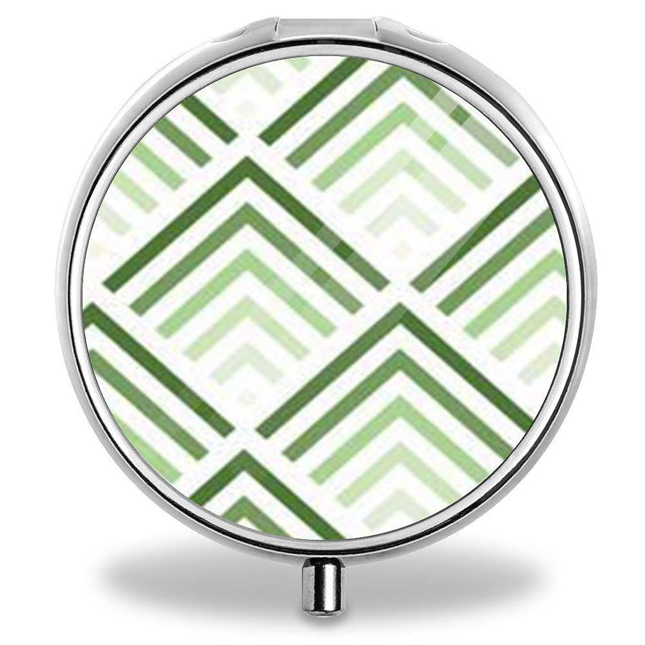 Unique Silver Round Pill Box Medicine Tablet Organizer or Coin Purse - Simple Geometric