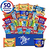 My College Crate Microwave Snack Care Package - 50 Piece Bulk Variety Pack Box...