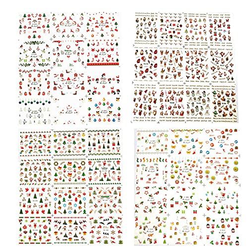 Adesivo fai da te per unghie a tema natalizio Decorazioni per unghie artistiche squisite Adesivi per unghie fai da te per uso pratico per l'uso del salone di bellezza per l'artista delle(Da Zhang)
