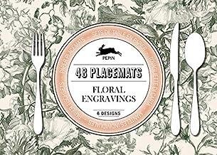 Floral Engravings: Placemat Pad