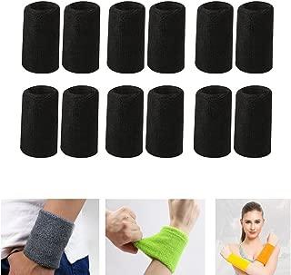 Zaptex Cotton Sports Basketball Wristband Pack of 12
