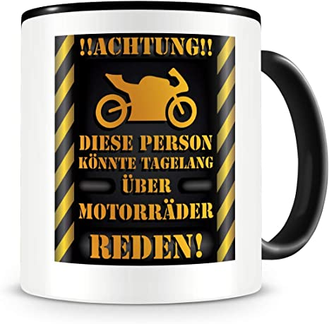 Frau motorrad lustig